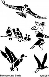 - A45057 Background (Arka Plan) Stencil 20x30 cm.