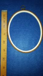 DMC - Dmc Ahşap Görünümlü 0val Nakış Çerçevesi 27 cm