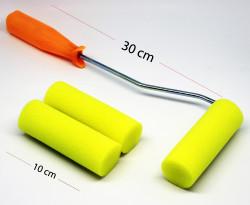 RICH - Rulo Sünger Sarı 2 Yedekli Set 10 cm