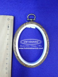 DMC - Dmc Ahşap Görünümlü 0val Nakış Çerçevesi 8,5 cm