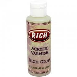 RICH - Rich Su Bazlı PARLAK Vernik Hıgh Gloss 130 cc