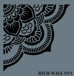 RICH - Rich WALL DECOR Stencıl 023 50x51 cm