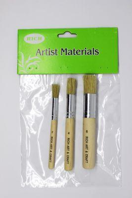 Stencil Fırçası 3'lü set 2-4-6 No